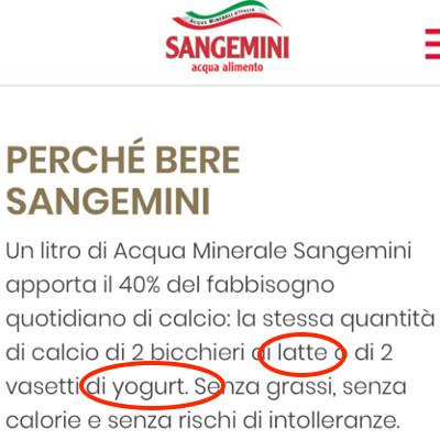 sangemini milk sounding